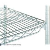 "Metro 2436QBR qwikSLOT™ 24 x 36"" Brite Finish Wire Shelf"