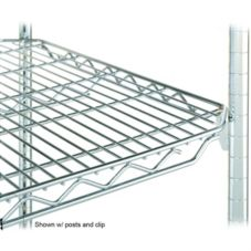 "Metro 2436QBR qwikSLOT™ 24 x 36"" Brite Finish Wire Shelf"