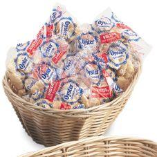 """Vollrath® 47205 Tan 9"""" Round Plastic Rattan Basket - Dozen"""