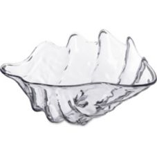 Carlisle® 34407 5 Qt. Clear Large Clam Shell Dish