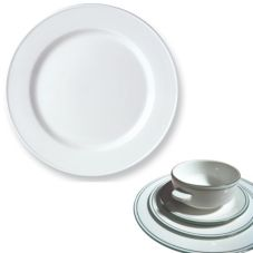 "Steelite 13150212 Simplicity Laguna 8"" Slimline Plate - 24 / CS"