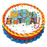 Lucks™ 45200 Edible Image® Jazzy Birthday - 12 / BX