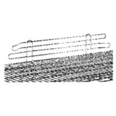 "Advance Tabco SL-60 4"" x 60"" Chrome Wire Shelf Ledge"