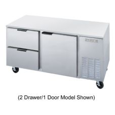 Beverage-Air UCRD48A-4 S/S 2-Door 4-Drawer Undercounter Refrigerator