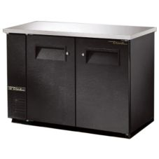 True TBB-24-48-FR Black Food Rated Back Bar Cooler For 48 6-Packs
