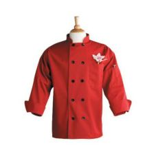 Uncommon Thread 0405RS Red Small Chef Coat With Thermometer Pocket