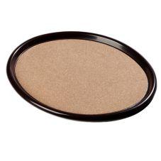 Carlisle® 282301 Oval Cork Tray with Brown Plastic Rim