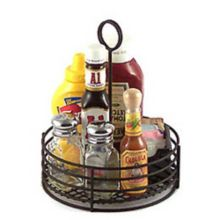 "G.E.T.® 4-31850 Black 7.5"" Round Table Caddy"