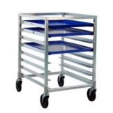 New Age Industrial 1314 Undercounter Height Aluminum Mobile Pan Rack