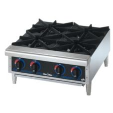 "Star® 604HF Star-Max® Gas 4-Burner 24"" Hot Plate"
