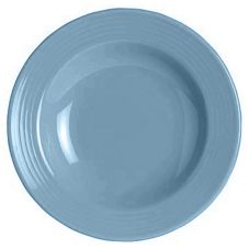 Steelite Anfora Tiffany Blue Lagoon 8 Oz. Rim Soup Plate / Bowl