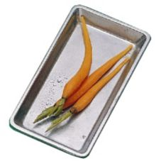 Bon Chef 9082 PEWTER Aluminum Small Rectangular Footed Tray - 3 / CS