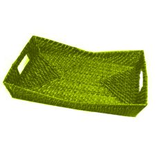 "Front Of The House BPT028YEK22 15"" Chartreuse Flare Tray - 6 / CS"