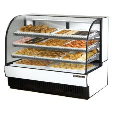 True® Curved Glass Dry Bakery Display Case, 28 Cubic Ft