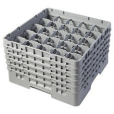 "Cambro 25S958151 Soft Gray 10-1/8"" 5 Ext., Full Glass Rack -2 / CS"