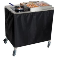 Cadco CBC-SDC Mobile Stainless Steel Sampling Cart / Demo Cart
