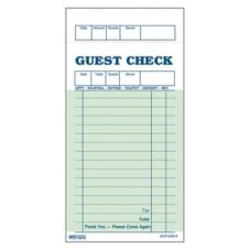 DayMark 112799 Green 1-Part Paper 16-Line Guest Check - 50 / CS
