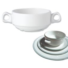 Steelite 13150119 Simplicity Laguna Handled 10 Oz. Soup Bowl - 36 / CS