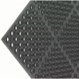 San Jamar® Medium Duty Black Tuf-Mat