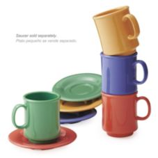 G.E.T.® TM-1308-MIX Bake and Brew Mixed Colors 8 Oz Mug - 24 / CS