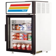 True® Countertop Glass Door Merchandiser Freezer, 5 Cubic Ft