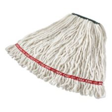 Rubbermaid® White Medium Looped Antimicrobial Shrinkless Wet Mop