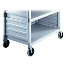 Cambro BC340KDP480 Sp. Gray Single Shelf Panel Set for KD Utility Cart