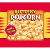 APW Wyott 21765900 Hot Buttery Popcorn Decal for Countertop Warmer
