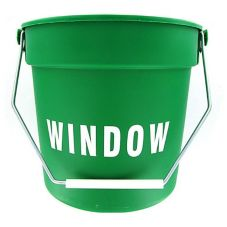 Green Plastic Imprinted 10 Qt Bucket
