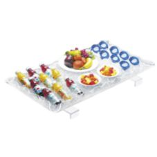 "Cal-Mil 989-12 Rectangle Illuminated 29 x 18"" Ice Display Tray"