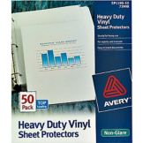 Staples Advantage 442525 Non-Glare Letter Sz Sheet Protector - 50 / BX