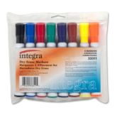 Integra ITA33311 Assorted Chisel Point Set Of 8 Dry Erase Markers