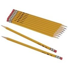 Staples® Medium Soft Black #2 Wood Pencil