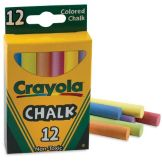 Staples® Advantage 510816 Omega Assorted Color Chalk - 12 / BX