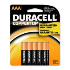Staples® Advantage 411934 Duracell Alkaline AAA Batteries - 8 / PK