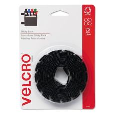 Staples® Advantage 613257 (50) Black Velcro Dots Roll