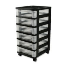 Iris IRS116833 Black 6-Drawer Mini Storage Cart