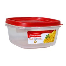 Rubbermaid® 1777087 5 Cup Easy Find Red Lid Container