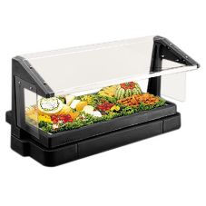 Cambro® BBR720110 Black 6 Ft. 5 Pan Tabletop Salad Bar