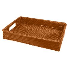 "Front Of The House BPT018ORW22 14.5"" Citrus Rattan Tray - 6 / CS"