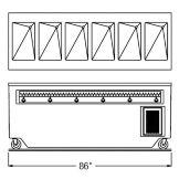 "Randell® RANFG HTD-6 86"" Enclosed Cabinet Base Hot Food Table"