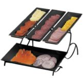 Cal-Mil® 1406-13 Black Wire 2 Tier Display Server with 3 Trays