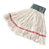 Rubbermaid® FGA15206WH00 White Antimicrobial Webfoot Mop - 6 / CS