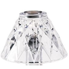 Sterno Products® 85442 Diamond Cut Clear Glass Shade