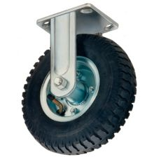 "Win-Holt® 7462 Rigid Plate Caster with 6"" Rubber Wheel"