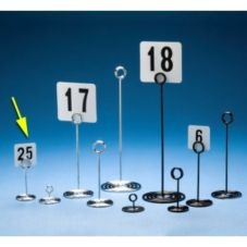 """American Metalcraft NSC4 Swirl Base Chrome 4""""H Number Stand"""