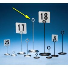 """American Metalcraft NSC12 Swirl Base Chrome 12""""H Number Stand"""