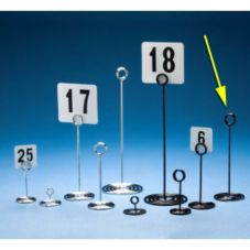 """American Metalcraft NSB8 Black Swirl Base Wire 8""""H Number Stand"""