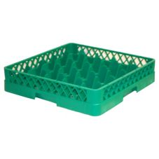 Traex® TR6-19 Green 25 Compartment Glass Rack