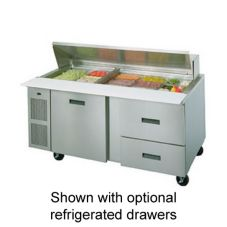 "Randell® 72"" High Volume Saladtop Refrigerated Prep Table"